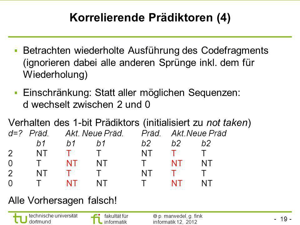 Korrelierende Prädiktoren (4)