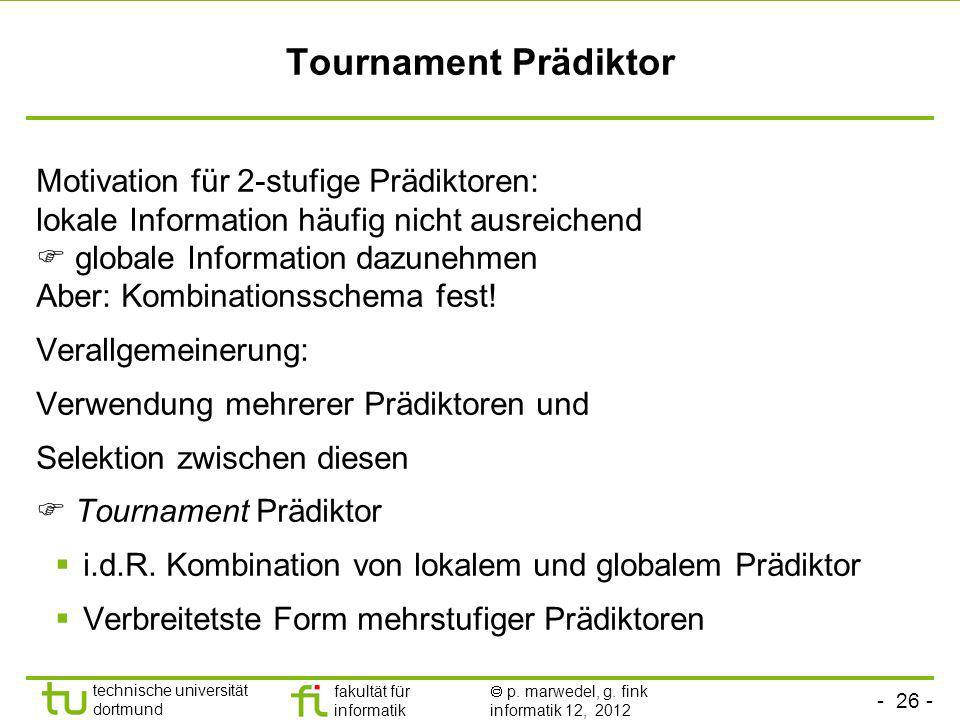 Tournament Prädiktor