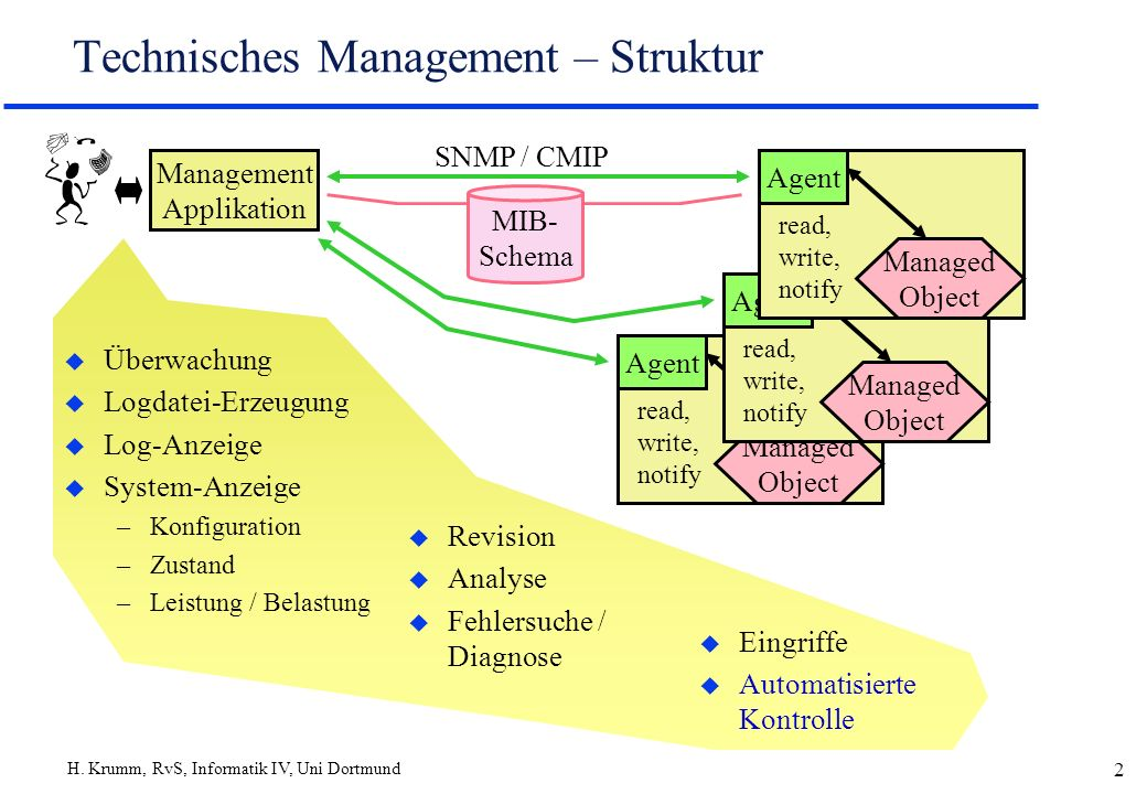 Technisches Management – Struktur