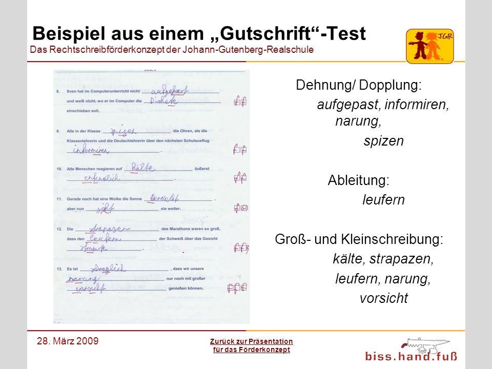 """Beispiel aus einem """"Gutschrift -Test"""