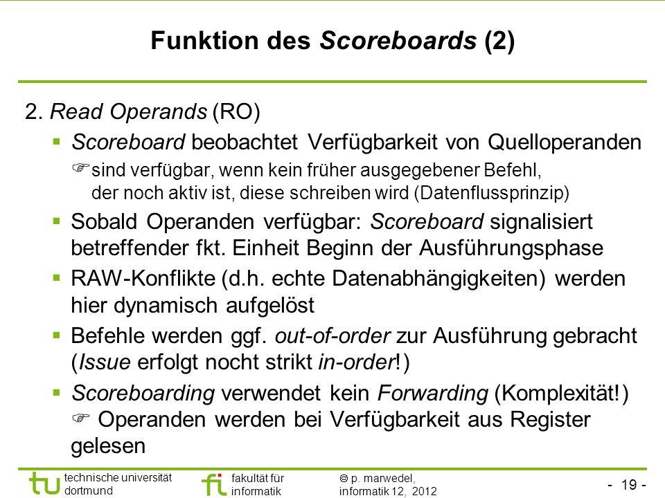 Funktion des Scoreboards (2)