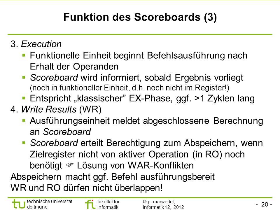 Funktion des Scoreboards (3)