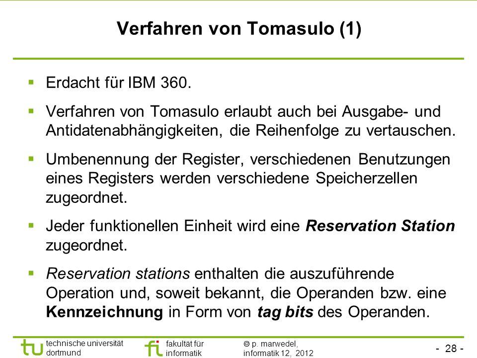 Verfahren von Tomasulo (1)