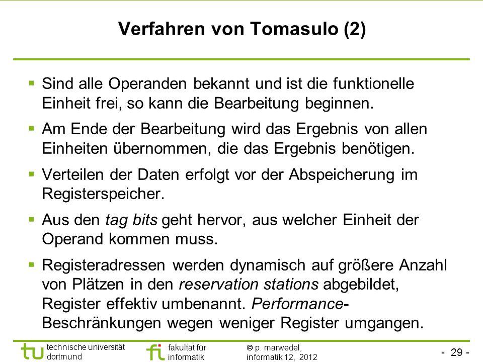 Verfahren von Tomasulo (2)