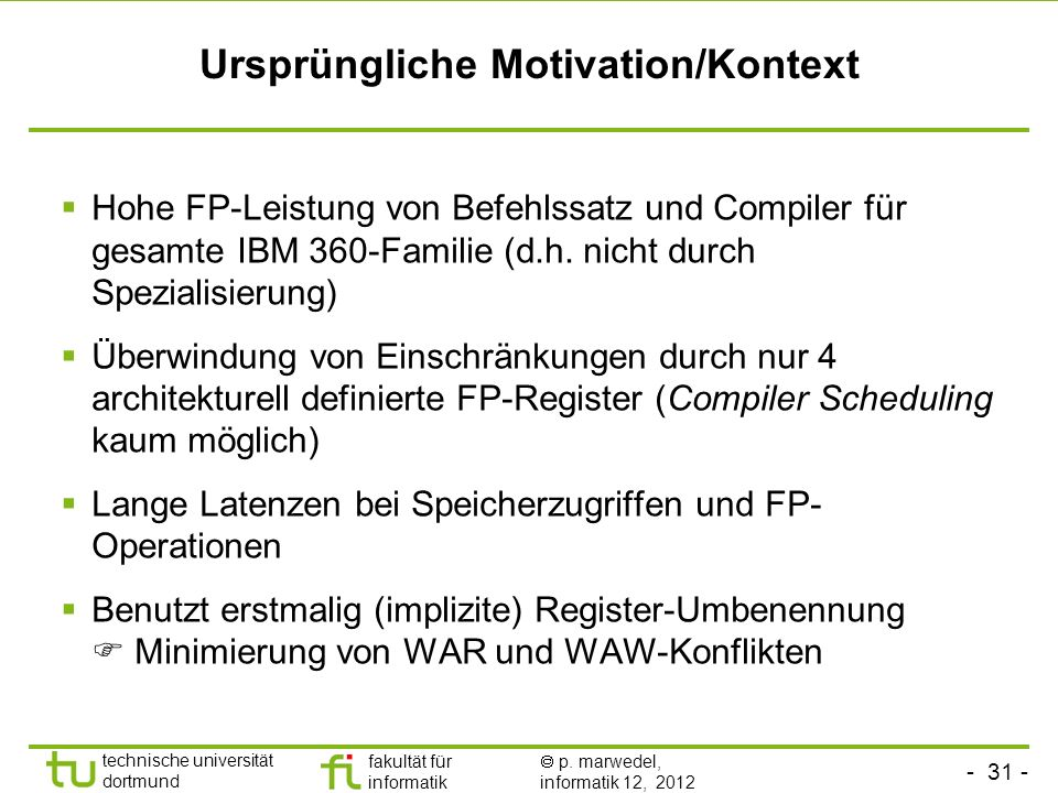 Ursprüngliche Motivation/Kontext