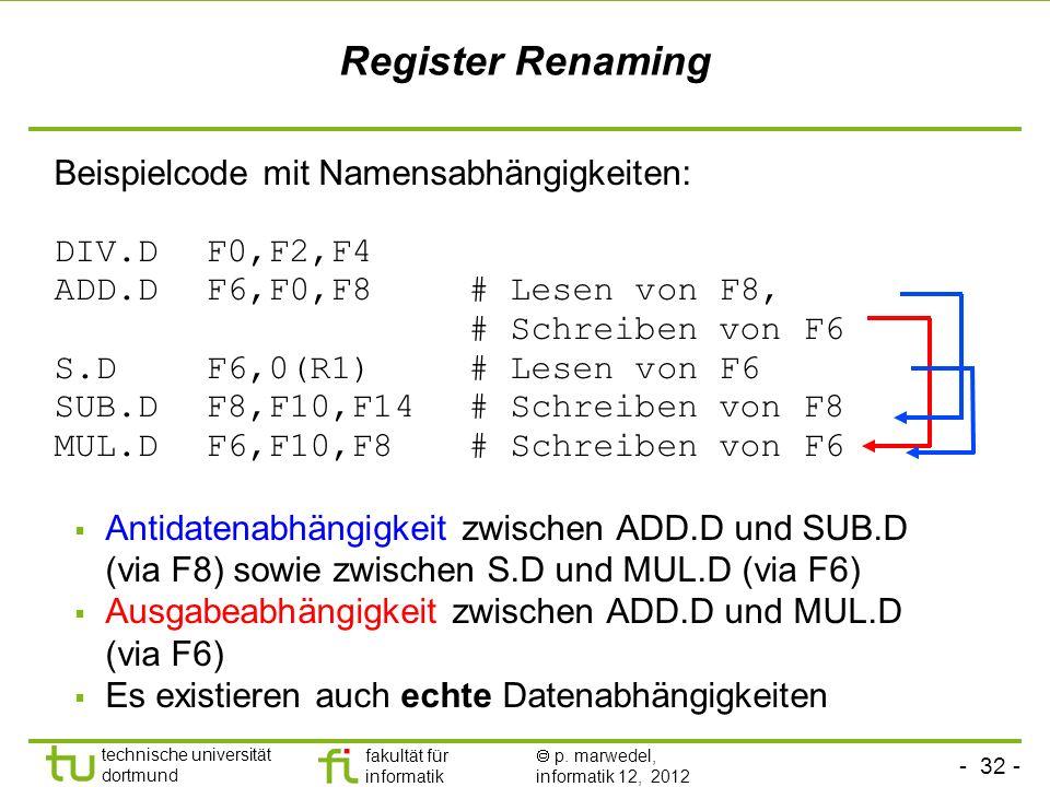 Register Renaming