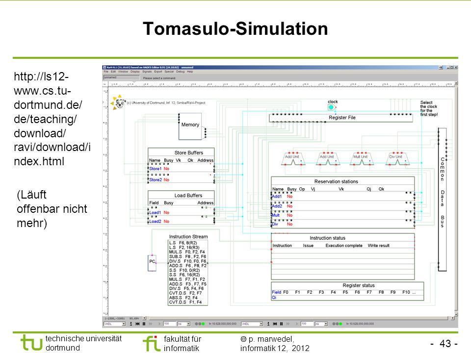 Tomasulo-Simulation http://ls12-www.cs.tu-dortmund.de/ de/teaching/