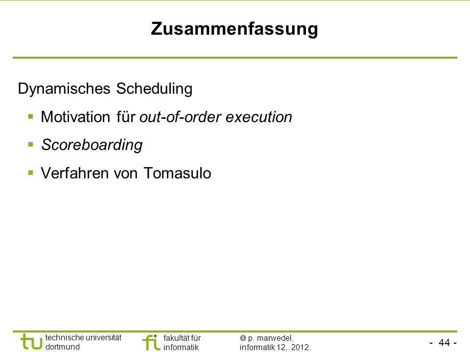 Zusammenfassung Dynamisches Scheduling