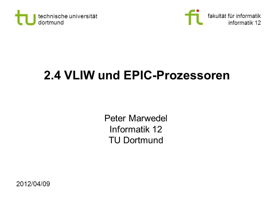 2.4 VLIW und EPIC-Prozessoren