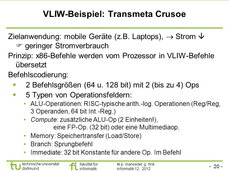 VLIW-Beispiel: Transmeta Crusoe