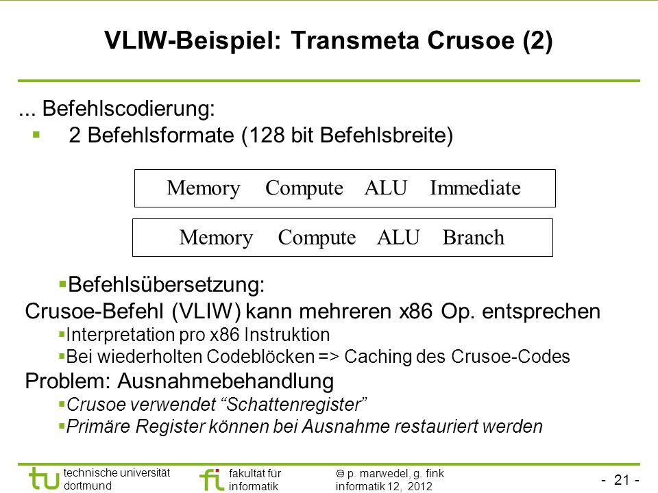 VLIW-Beispiel: Transmeta Crusoe (2)