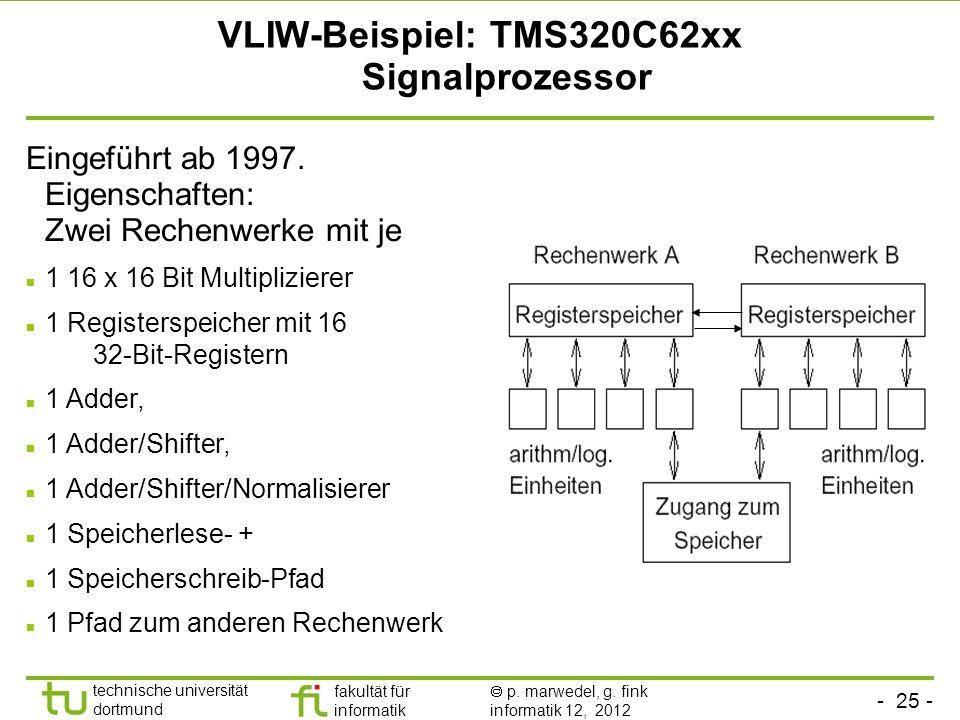 VLIW-Beispiel: TMS320C62xx Signalprozessor