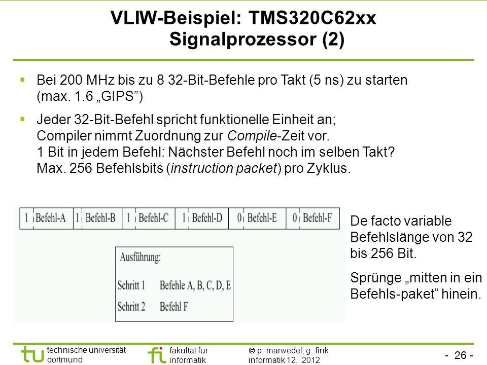 VLIW-Beispiel: TMS320C62xx Signalprozessor (2)