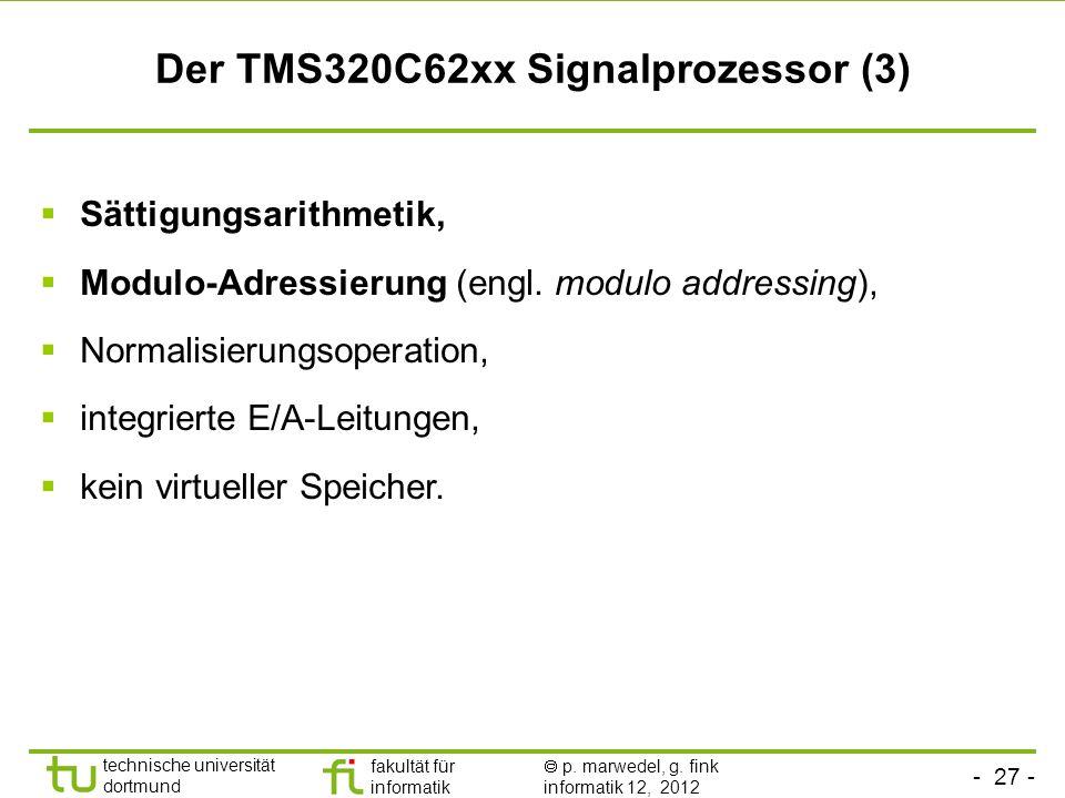 Der TMS320C62xx Signalprozessor (3)