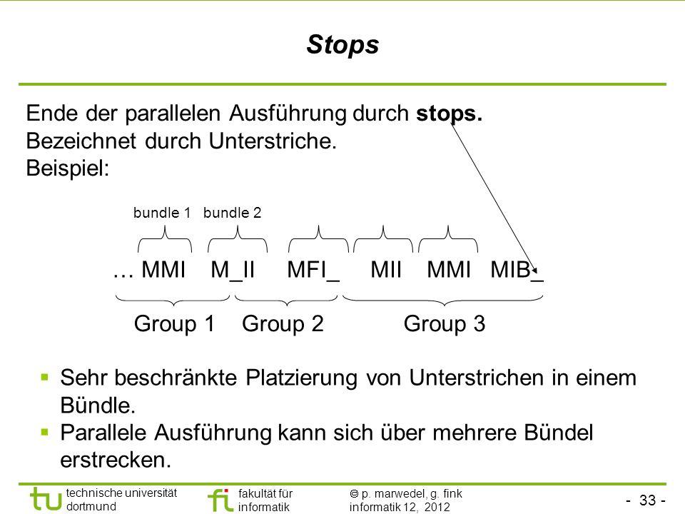 Stops Ende der parallelen Ausführung durch stops.