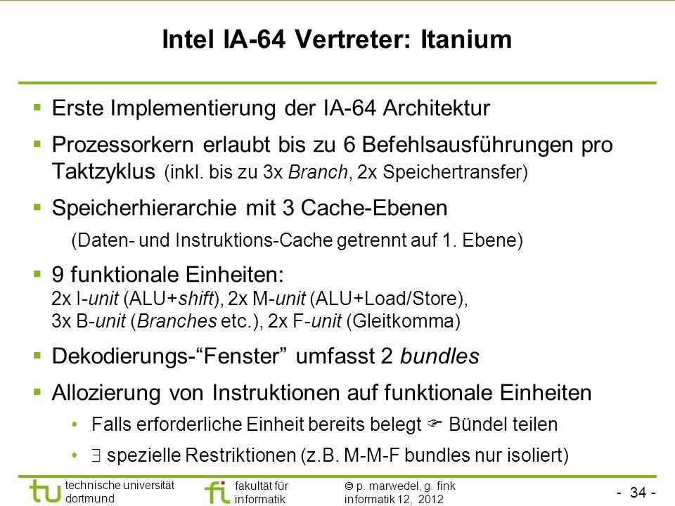 Intel IA-64 Vertreter: Itanium