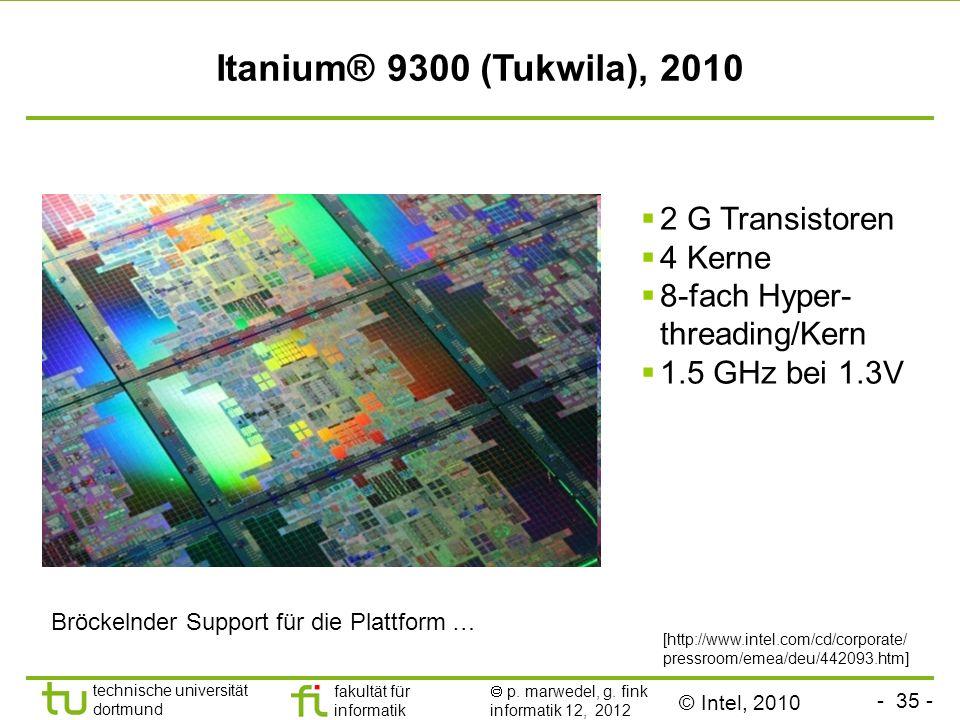 Itanium® 9300 (Tukwila), 2010 2 G Transistoren 4 Kerne