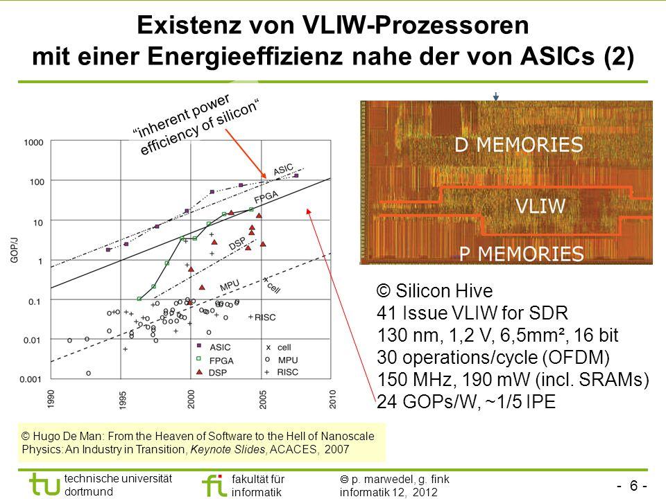 Existenz von VLIW-Prozessoren mit einer Energieeffizienz nahe der von ASICs (2)