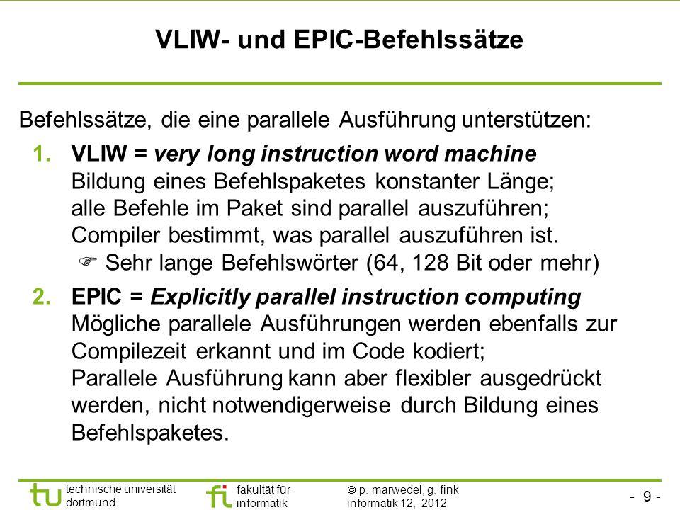 VLIW- und EPIC-Befehlssätze
