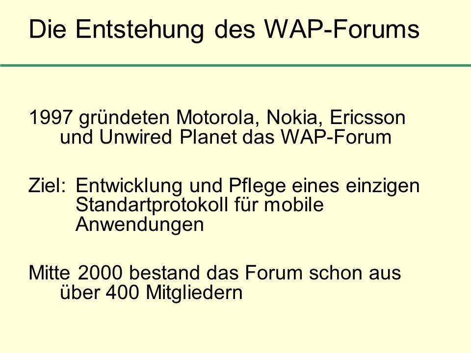 Die Entstehung des WAP-Forums