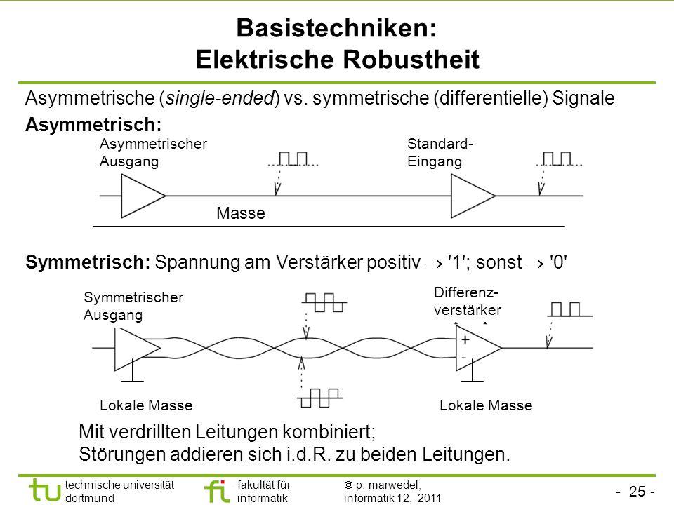 Basistechniken: Elektrische Robustheit