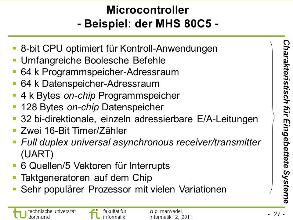 Microcontroller - Beispiel: der MHS 80C5 -