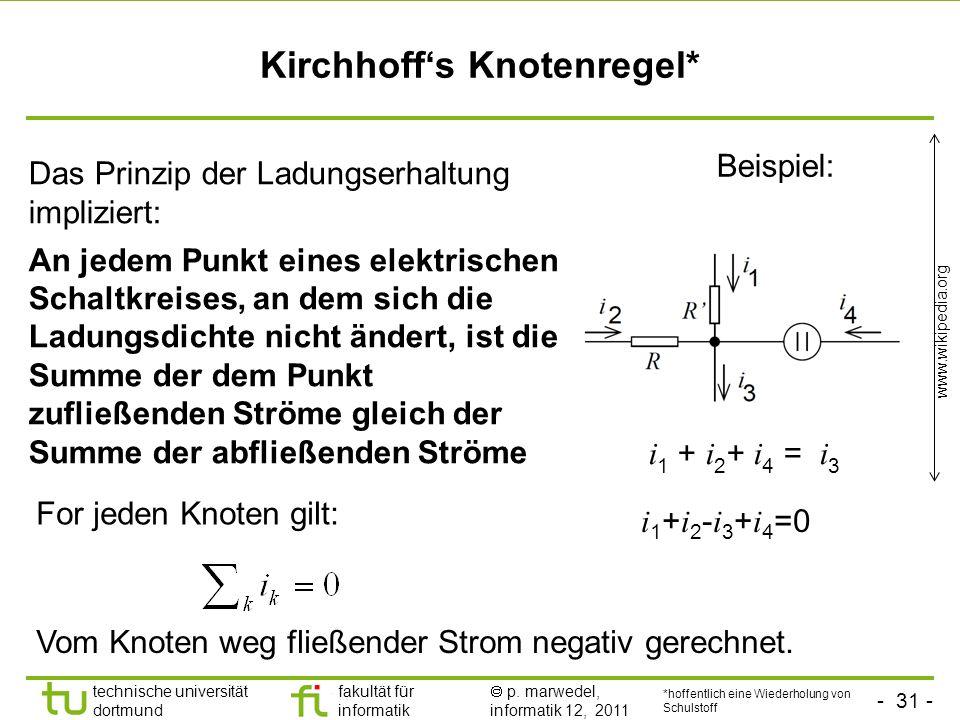 Kirchhoff's Knotenregel*