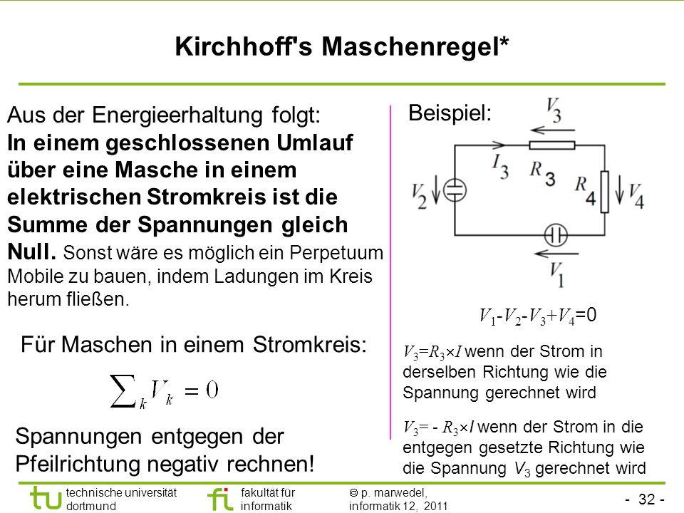 Kirchhoff s Maschenregel*