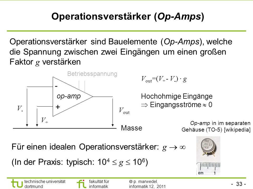 Operationsverstärker (Op-Amps)