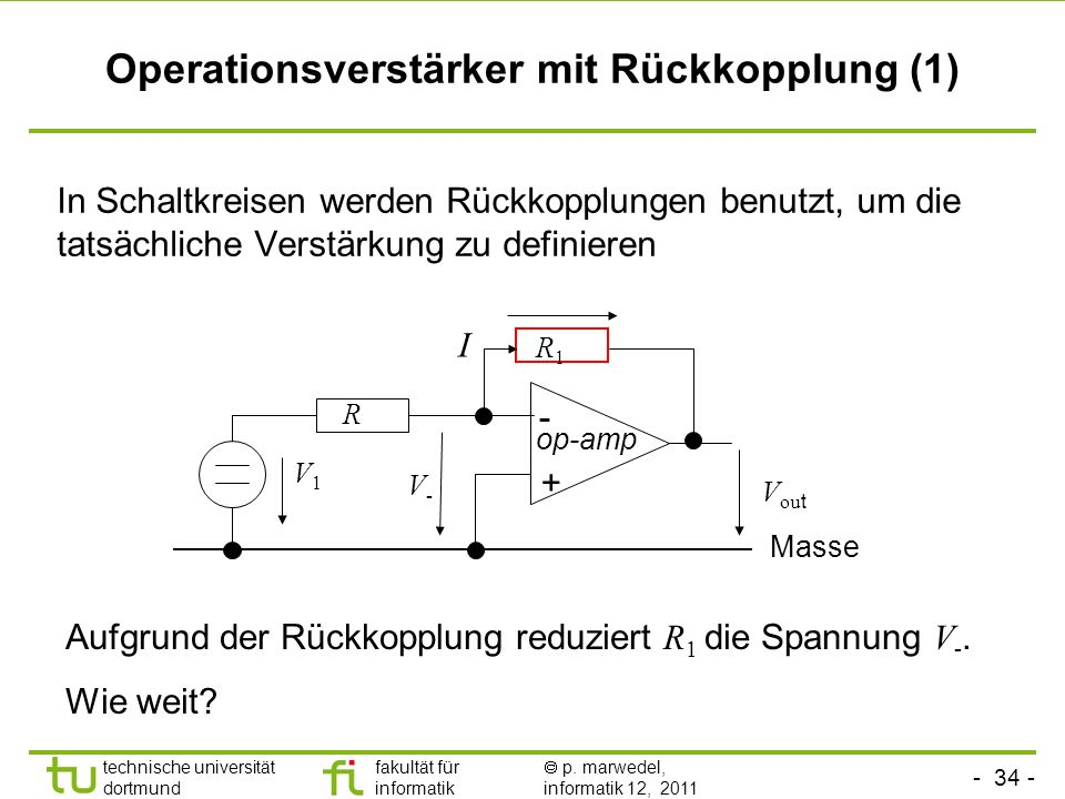Operationsverstärker mit Rückkopplung (1)