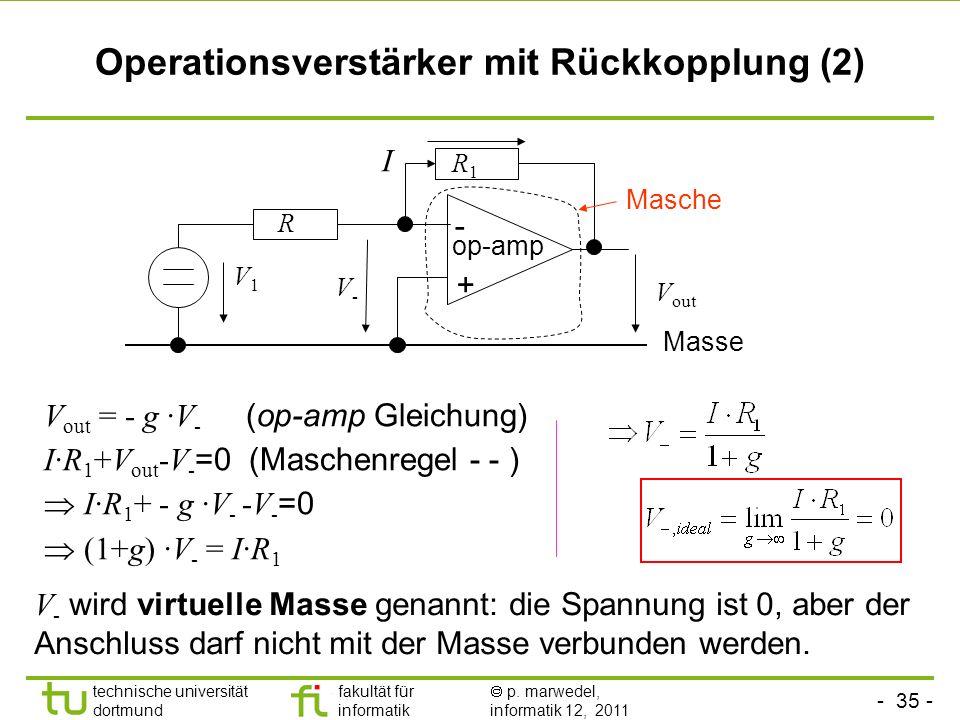 Operationsverstärker mit Rückkopplung (2)
