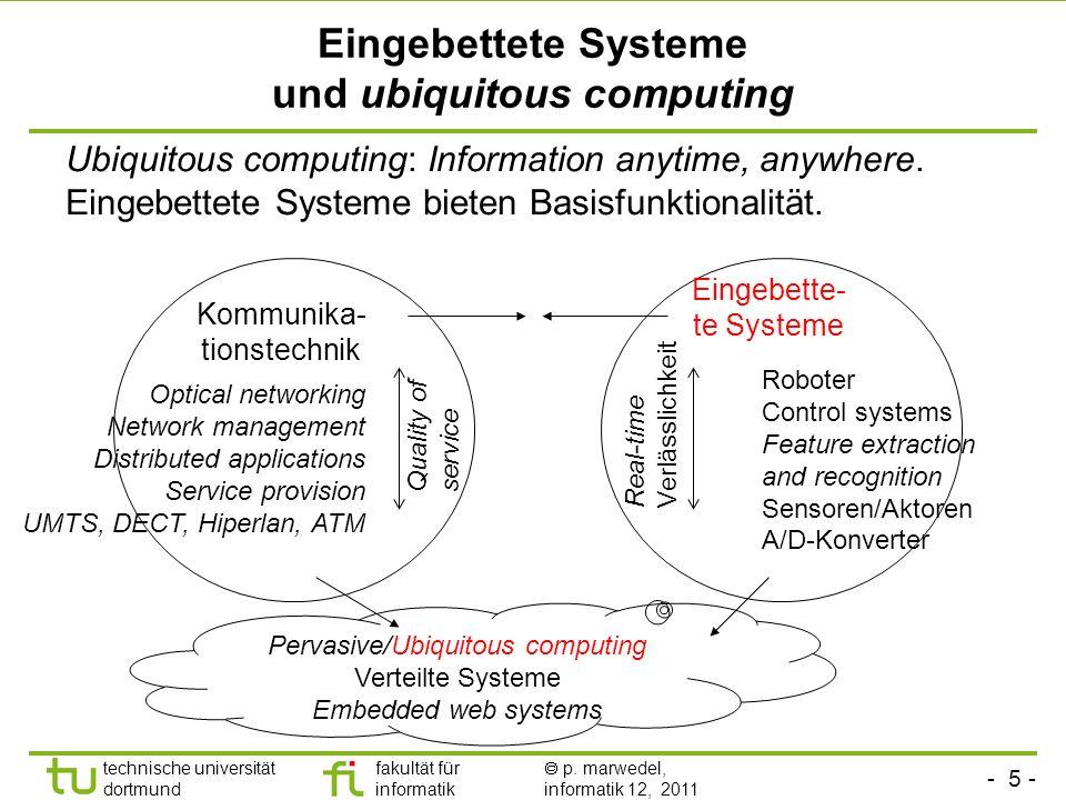 Eingebettete Systeme und ubiquitous computing