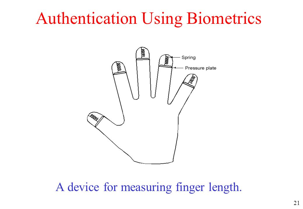 Authentication Using Biometrics