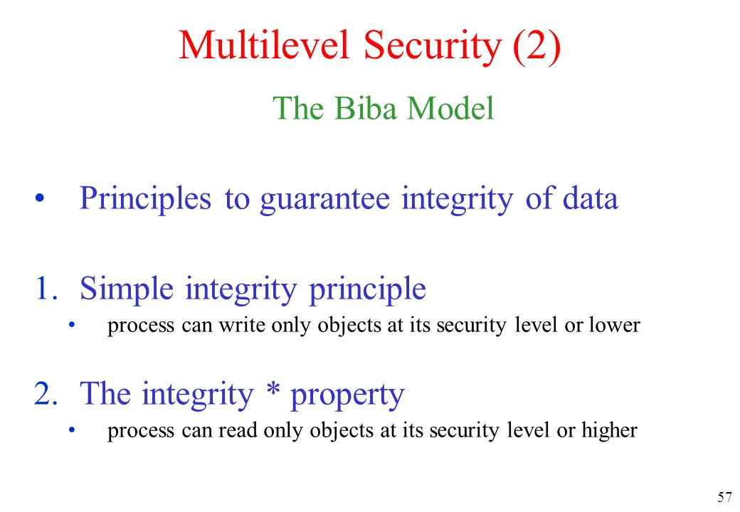 Multilevel Security (2)