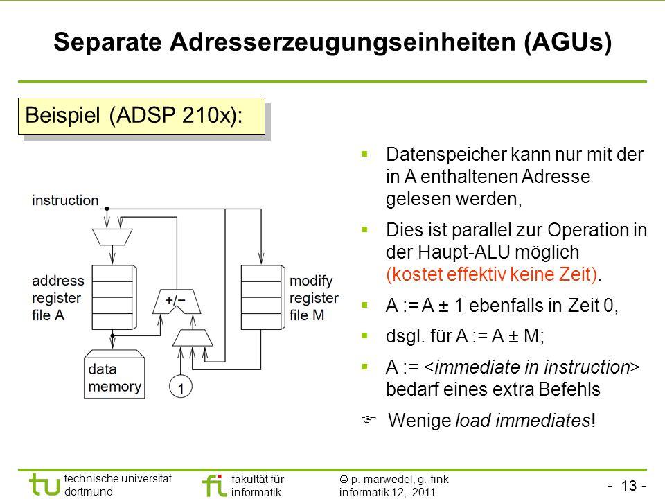Separate Adresserzeugungseinheiten (AGUs)