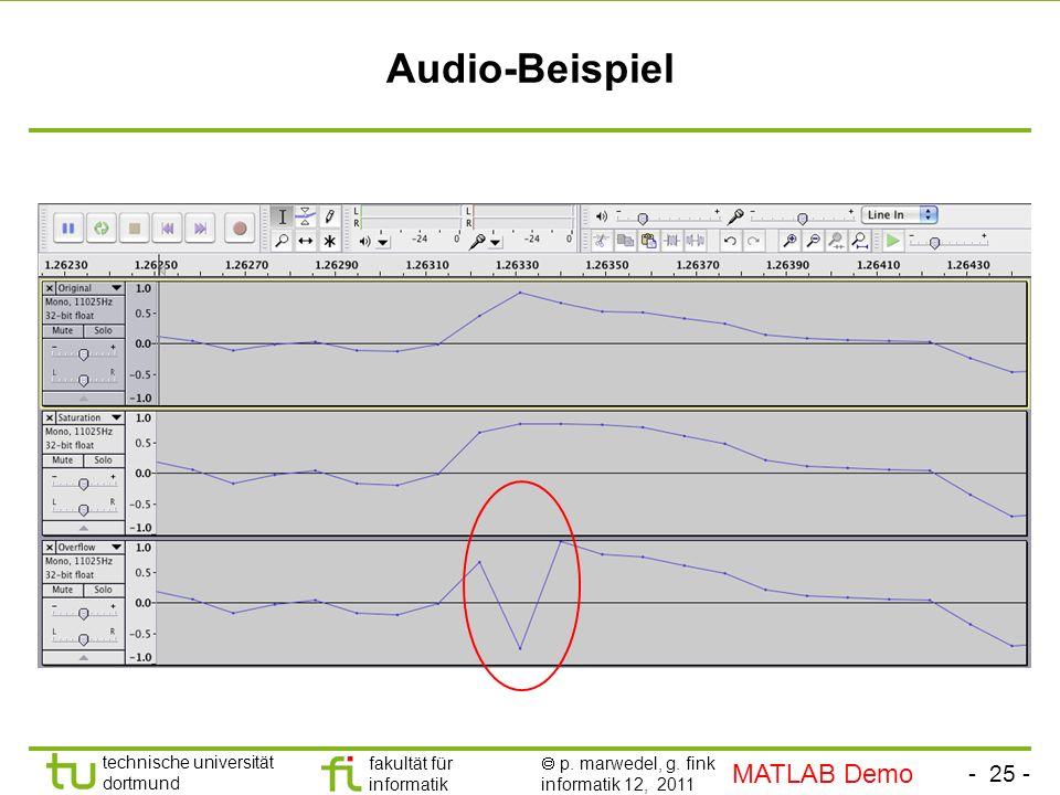 Audio-Beispiel MATLAB Demo