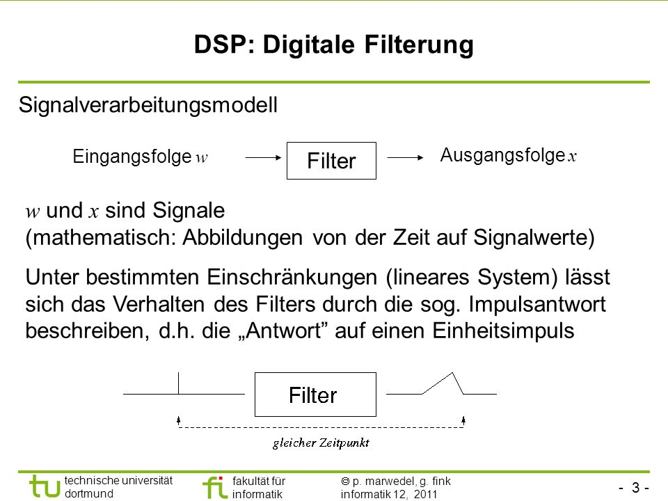DSP: Digitale Filterung