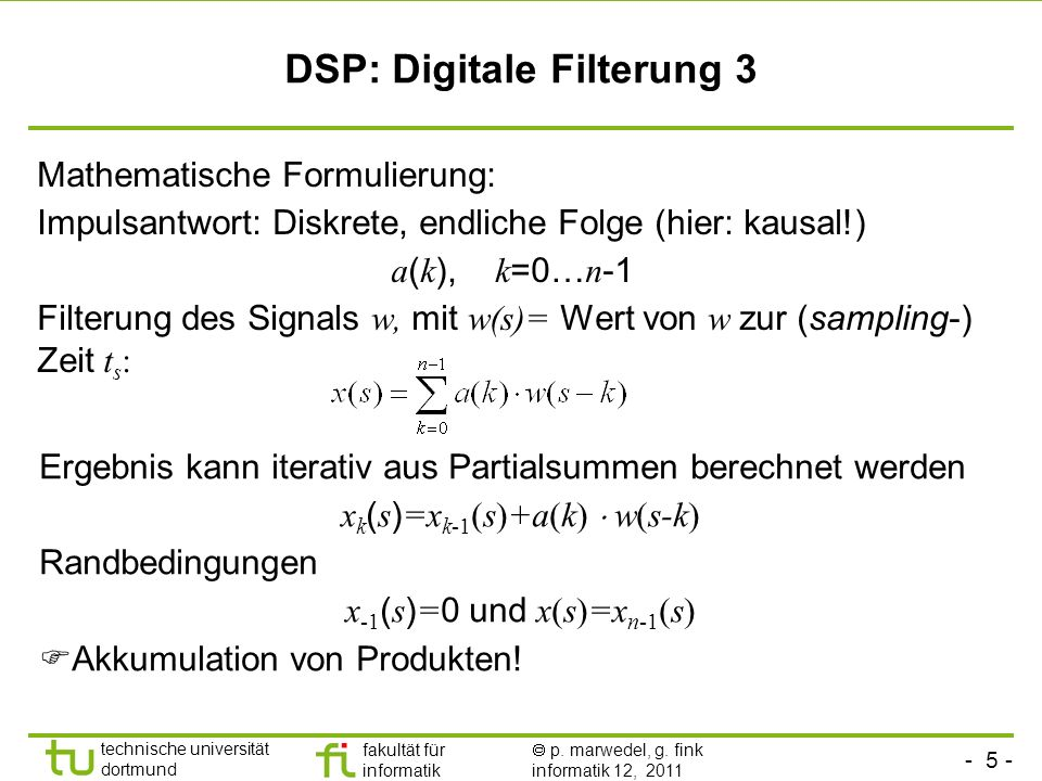 DSP: Digitale Filterung 3