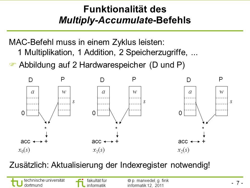 Funktionalität des Multiply-Accumulate-Befehls