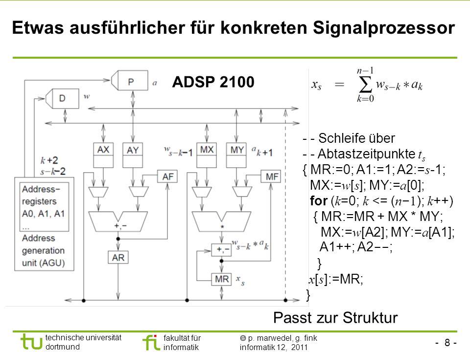 Etwas ausführlicher für konkreten Signalprozessor