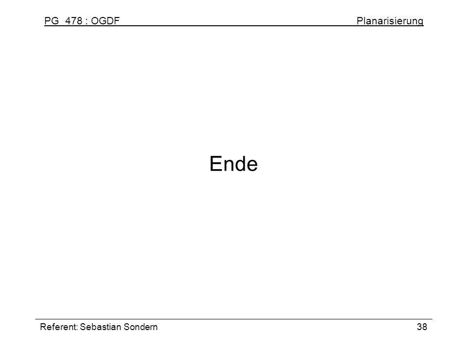 Ende Referent: Sebastian Sondern
