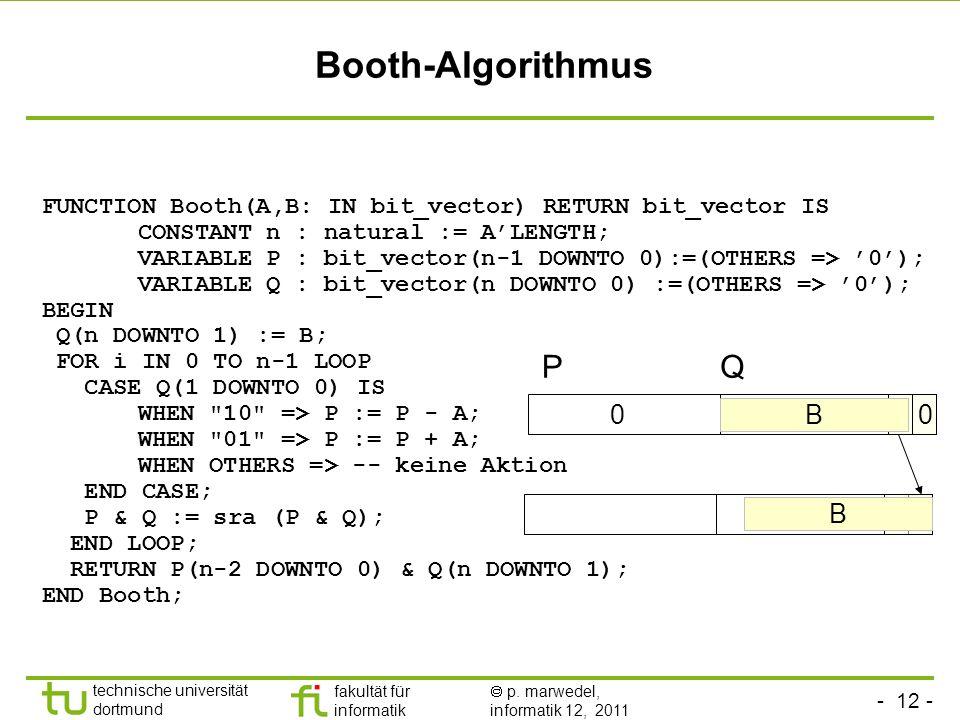 Booth-Algorithmus P Q B B