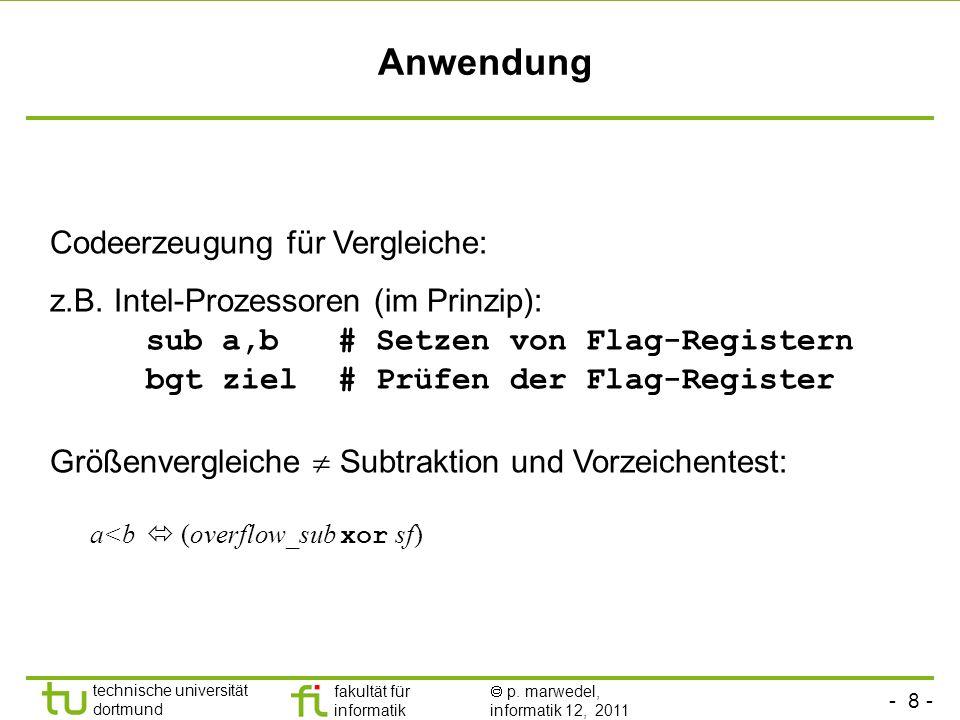 Anwendung Codeerzeugung für Vergleiche: