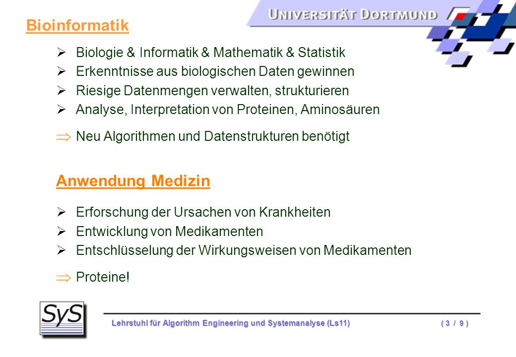 Bioinformatik Anwendung Medizin