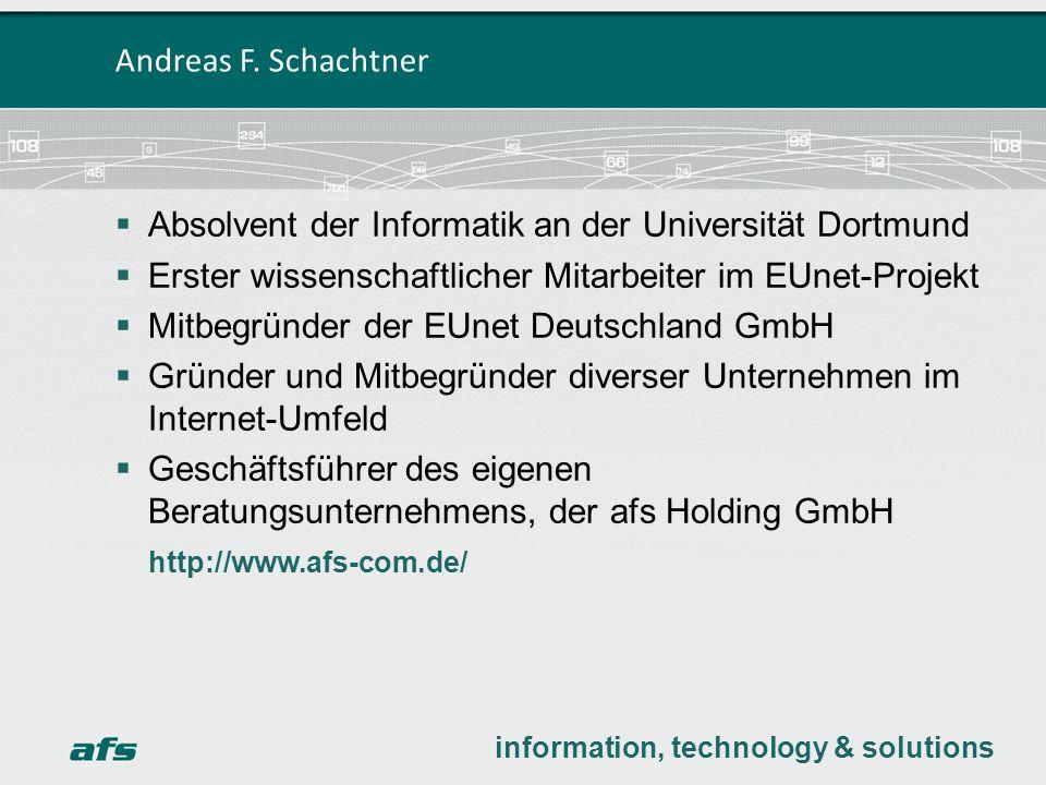 Absolvent der Informatik an der Universität Dortmund