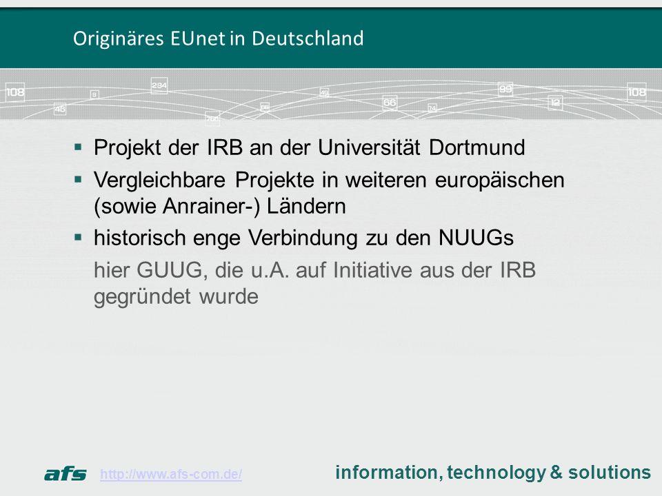 Originäres EUnet in Deutschland