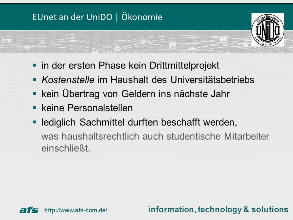 EUnet an der UniDO | Ökonomie