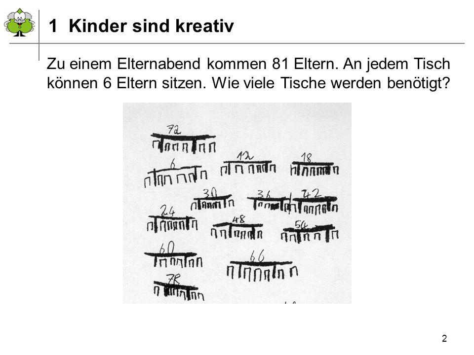 1 Kinder sind kreativ Zu einem Elternabend kommen 81 Eltern.