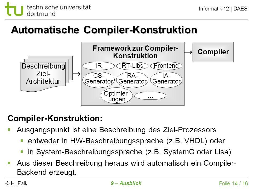 Automatische Compiler-Konstruktion