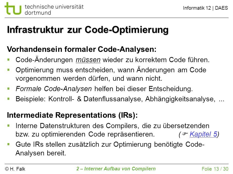 Infrastruktur zur Code-Optimierung